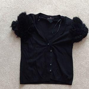 Short sleeve black cardigan